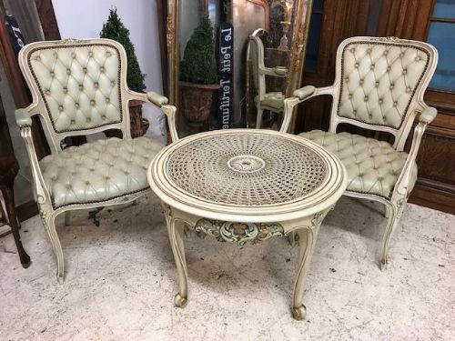 Pretty Vintage French Table and Chair Set   - Lk66